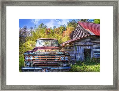 American Dodge Framed Print by Debra and Dave Vanderlaan