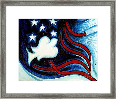 Framed Print featuring the painting American Dove by Genevieve Esson