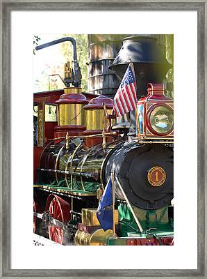American Dream Train Framed Print by Curtis Gibson