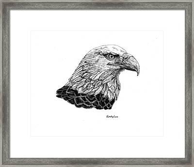American Eagle Framed Print by Cynthia  Lanka