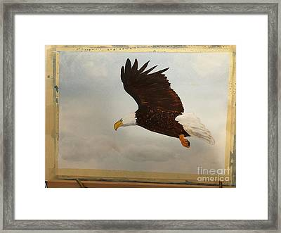 Framed Print featuring the painting American Eagle by Donald Paczynski