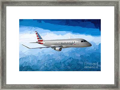 American Eagle In The Clouds Framed Print by Garland Johnson