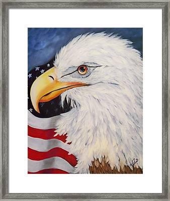 American Eagle Framed Print by Joni McPherson