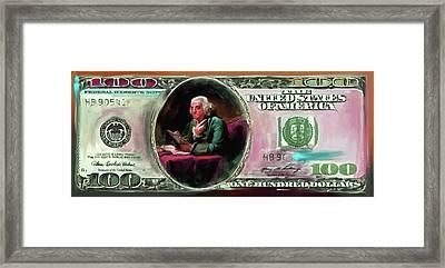 American Engravings Iv 457 IIi Framed Print by Mawra Tahreem