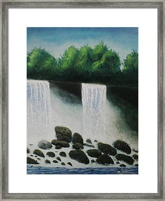 American Falls Framed Print by Iven Maniscalco