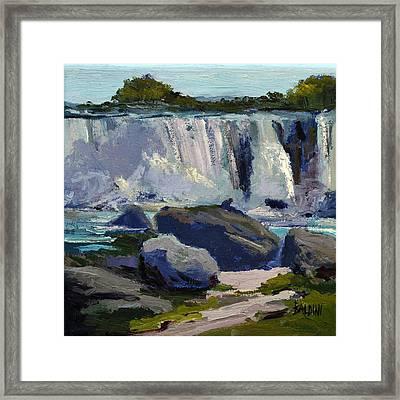 American Falls Framed Print by J R Baldini