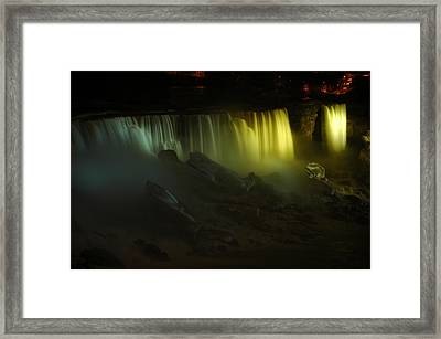 American Falls Night View Framed Print by Rick Couper