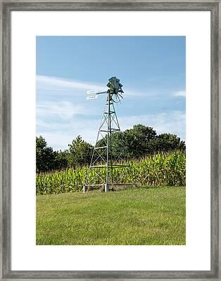American Farm Wind Pump Framed Print