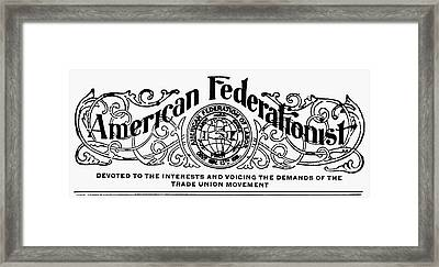 American Federationist Framed Print by Granger