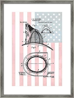 American Firefighter's Helmet Framed Print by Dan Sproul