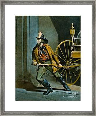 American Fireman 1858 Framed Print by Padre Art