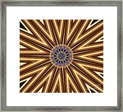 American Flag And Fireworks Kaleidoscope Abstract 1 Framed Print by Rose Santuci-Sofranko