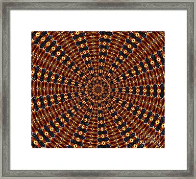 American Flag And Fireworks Kaleidoscope Abstract 3 Framed Print by Rose Santuci-Sofranko