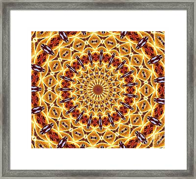 American Flag And Fireworks Kaleidoscope Abstract 4 Framed Print by Rose Santuci-Sofranko
