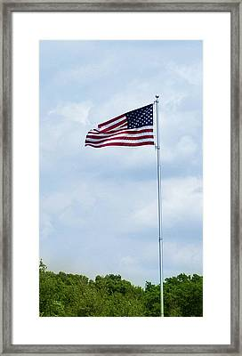 American Flag Framed Print by By Way of Karma
