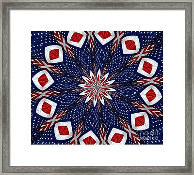 American Flag Kaleidoscope Abstract 2 Framed Print by Rose Santuci-Sofranko