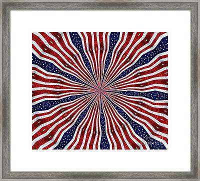 American Flag Kaleidoscope Abstract 6 Framed Print by Rose Santuci-Sofranko