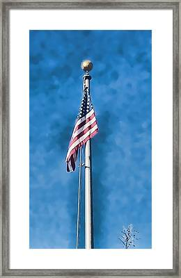 American Flag 'painted' Framed Print