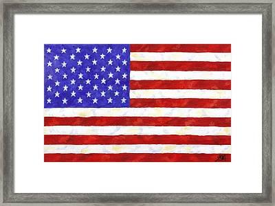 American Flag Framed Print by Linda Mears