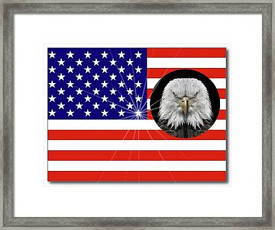American Flag Framed Print by Manfred Lutzius