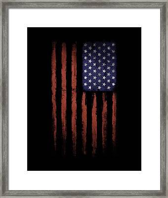 American Flag Old Grunge Framed Print