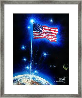 American Flag. The Star Spangled Banner Framed Print by Sofia Metal Queen