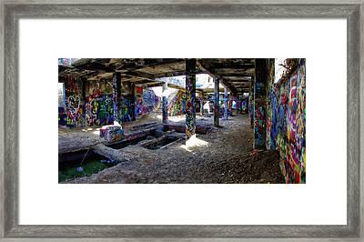 American Flat Mill Basement Virginia City Nevada Framed Print