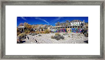 American Flat Mill Virginia City Nevada Panoramic Framed Print