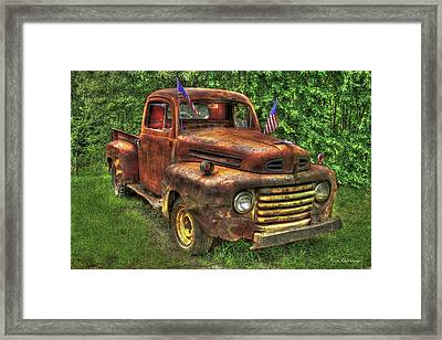 American Ford 1950 F-1 Ford Pickup Truck Art Framed Print
