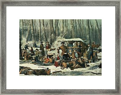 American Forest Scene Framed Print by Currier and Ives