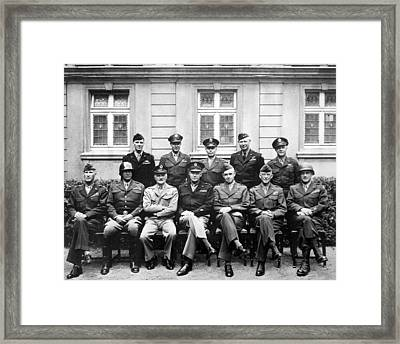 American Generals Wwii  Framed Print by War Is Hell Store