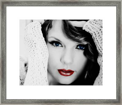 American Girl Taylor Swift Framed Print by Brian Reaves