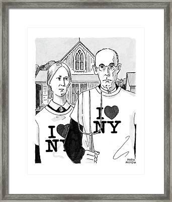 American Gothic Framed Print by Marisa Acocella Marchetto