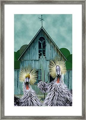 American Gothic Revisisted  Framed Print by Lois Mountz