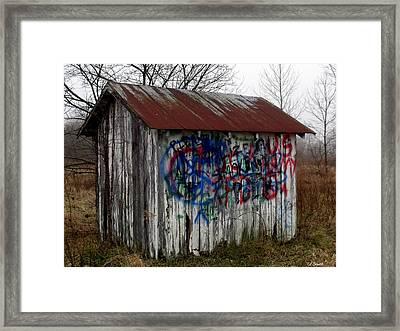 American Graffiti 4   Zig Zag Man Framed Print by Ed Smith
