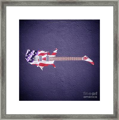 American Guitar By Sarah Kirk Framed Print by Sarah Kirk