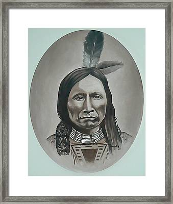 American Horse Framed Print by Michael  TMAD Finney