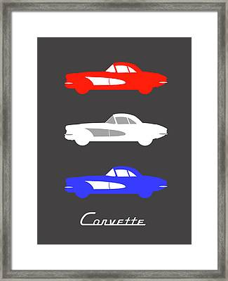 American Icon - Corvette Framed Print by Mark Rogan