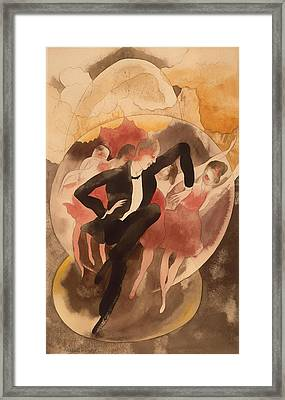 American In Vaudeville - Dancer With Chorus Framed Print by Mountain Dreams