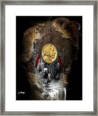 American Indian Dreamcatcher 2 Framed Print by G Berry