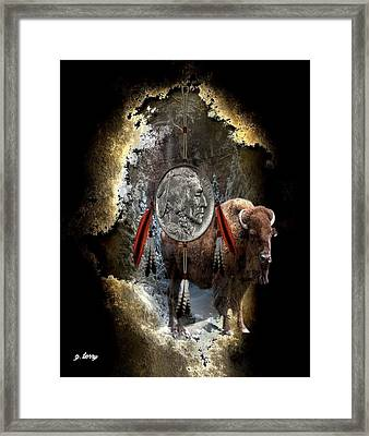 American Indian Dreamcatcher Framed Print by G Berry