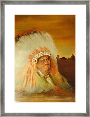 American Indian Framed Print by James Higgins