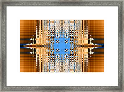 American Indian Weave Framed Print by Thomas Smith