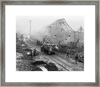 American Infantry Moving Into German Framed Print by H. Armstrong Roberts/ClassicStock