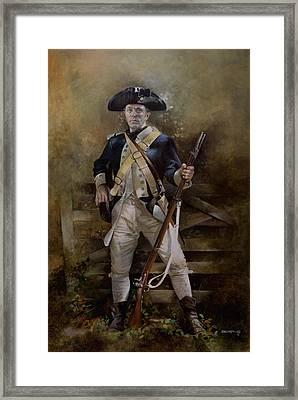 American Infantryman C.1777 Framed Print