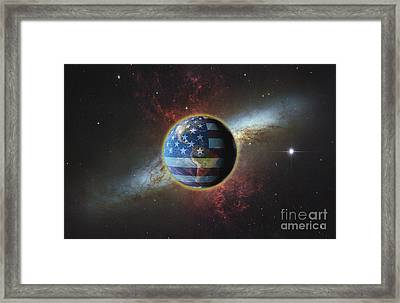 American Influence Framed Print