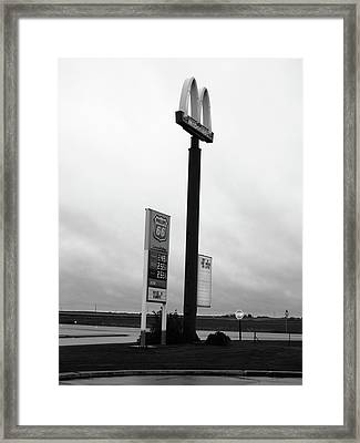Framed Print featuring the photograph American Interstate - Illinois I-55 by Frank Romeo