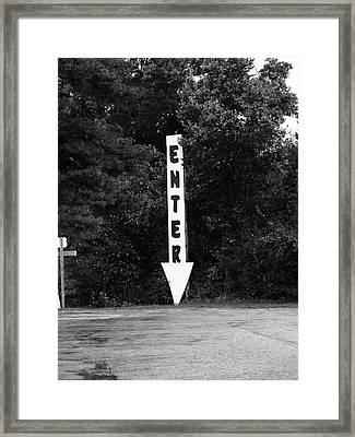 American Interstate - Missouri I-70 Bw Framed Print