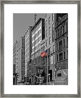 American Iron Worker Framed Print