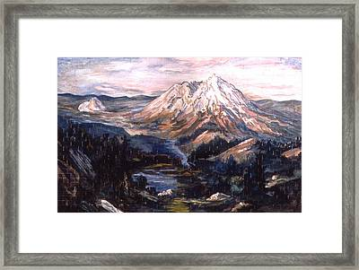 American Landscape Before Rachel Framed Print by Karl Frey